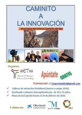 Cartel Caminito a la Innovación